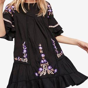 Free People Pavlo Cotton Embroidered Mini Dress